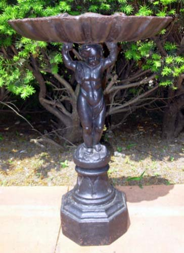 Cast Iron Cherub Bird Bath- SOLD