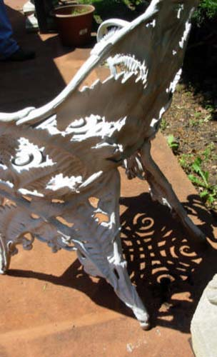 Garden Chair, Fern Cast Iron  SOLD
