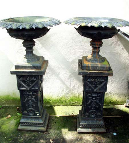 Urns,Fiske Cast Iron  Signed-Pr SOLD
