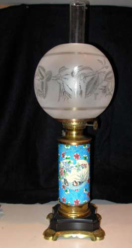 Aesthetic Longwy Lamp  SOLD