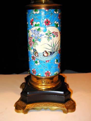 Aesthetic Longwy Lamp  SOLD