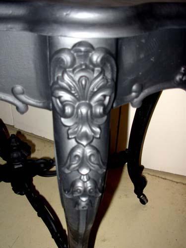 Table, Cast Iron Rococo Revival