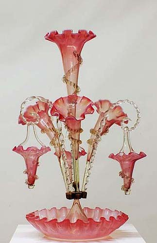 Antique Glass Epergne-SOLD