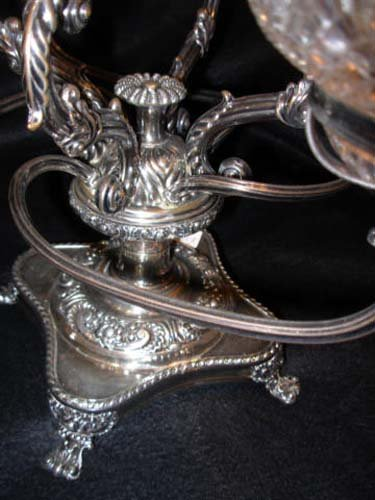 Cut Glass Epergne SOLD
