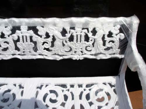 Bench,Cast Iron Bench w Angels SOLD