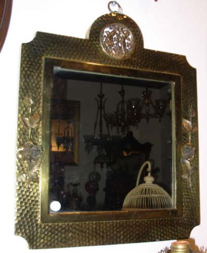 Aesthetic Movement Brass Mirror Meriden