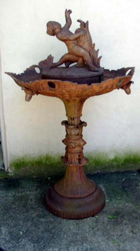 Fountain, Cast Iron by Wood  SOLD