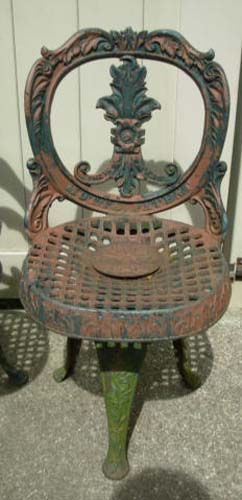 Antique Mott Cast Iron Chairs SOLD