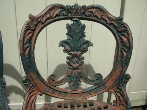 Antique Mott Cast Iron Chairs SOLD