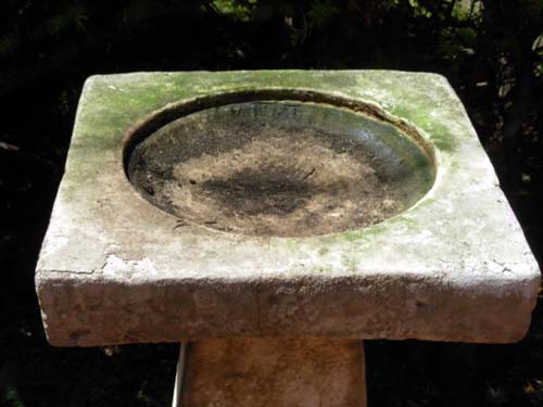 Cast Stone Bird Bath- SOLD