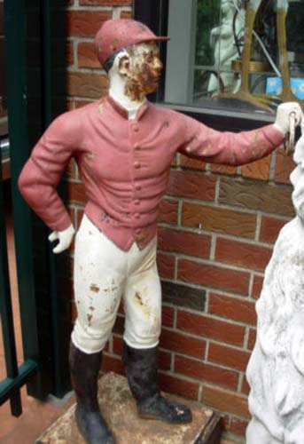 Cast Iron Garden Jockey  SOLD