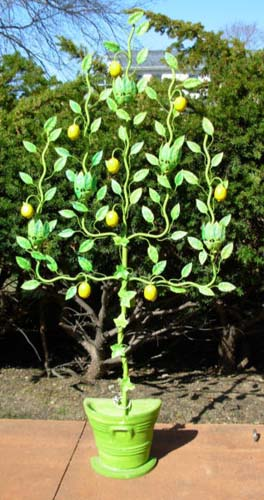 Tole Lemon Tree  SOLD