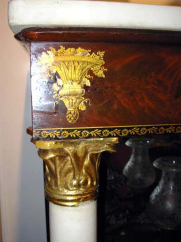 Table:19thC Classical Stenciled Pier Table: