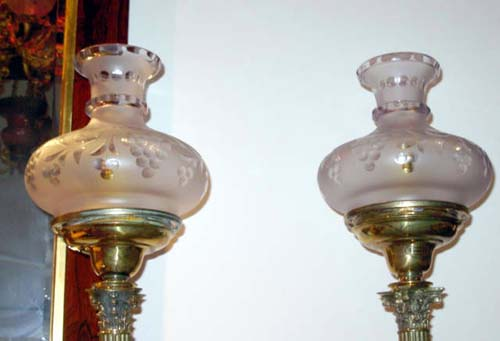Pr of Cornelius & Co Astral Lamps Sold
