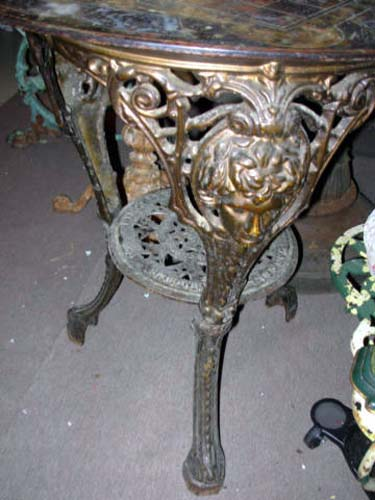 Victorian Slate & ron Pub Table SOLD
