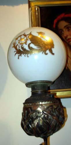 Floor Lamp: Kerosene Egret Floor Lamp