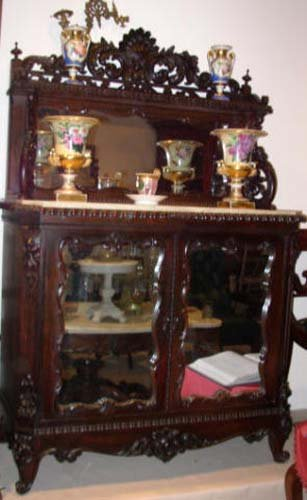 Cabinet:Victorian Rosewood Meeks Cabinet SOLD
