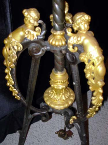 LAMP: Victorian Kerosene  Floor Lamp Hold