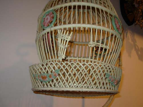 Antique Wicker Bird Cage