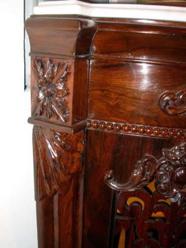 Cabinet, Meeks Sgd Rosewood  Rococo. SOLD