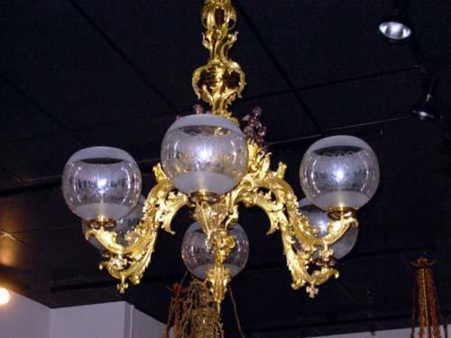 Am Rococo Revival Elaborate Chandelier