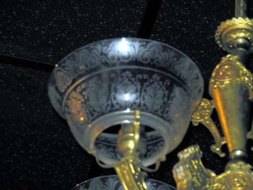 Victorian Neo Grec Gas Chandelier