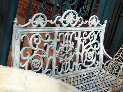 Bench, sgnd Mc Lean, Cast Iron SOLD