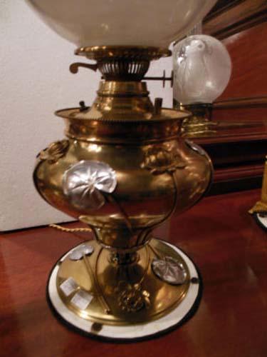 Lamp, B & H  Art Nouveau Kerosene Lamp