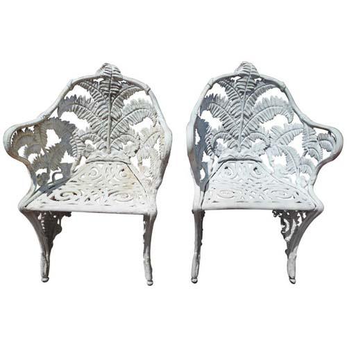 Chair, Cast Iron Fern Pattern Pr SOLD