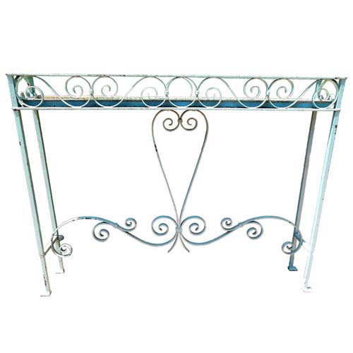 Planter, Vintage Wrought Iron Planter