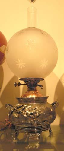 LAMP; Aesthetic Lamp,silverplate base