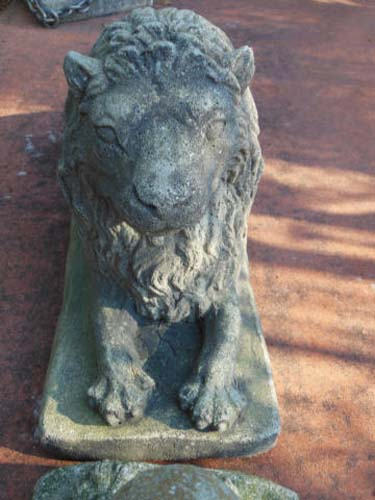Statues:Cast Stone Lions sold