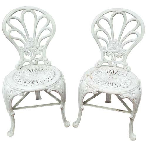 Garden Chairs, Coalbrookdale Cast Iron Chairs