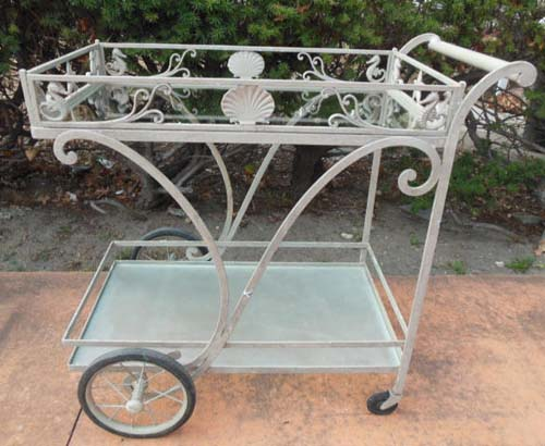 Tea Cart  by Molla with Seahorses SOLD