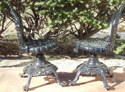 Garden Swivel Chairs, Cast Iron