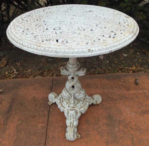 Garden table, cast iron Round table