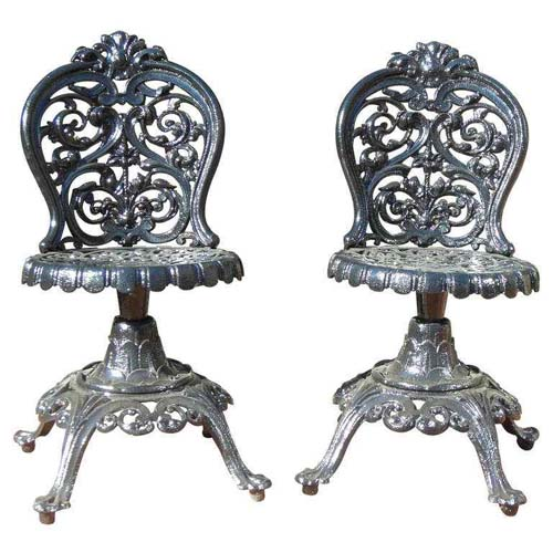 Chairs, Cast Iron Swivel Chairs