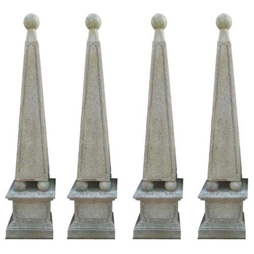 Garden Obelisks Cast Stone set of 4 SOLD