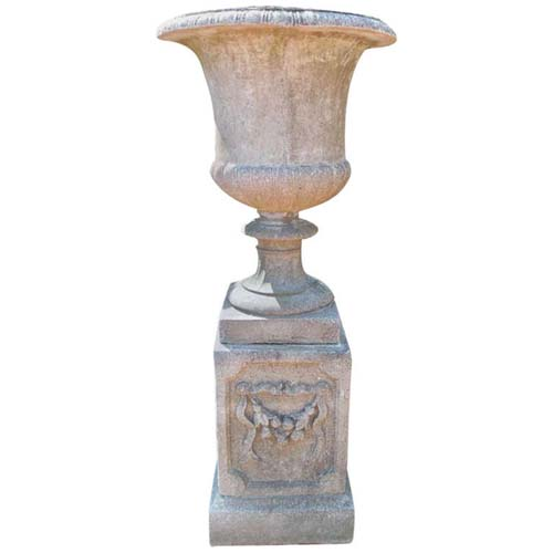 Garden Urn, cast stone 53 1/2 tall. SOLD