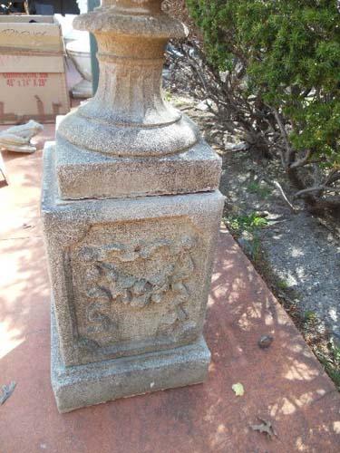 Garden Urn, cast stone 53 1/2 tall