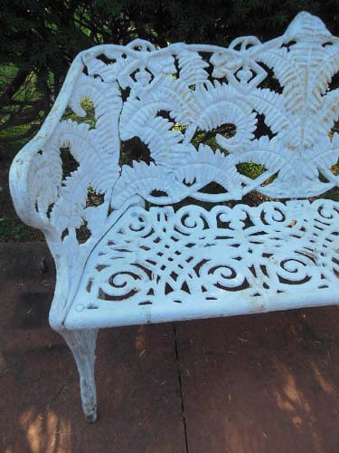 Bench Cast Iron Fern Pattern SOLD