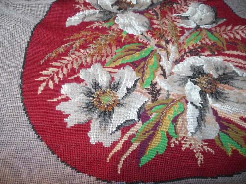 Bead Work Chair Seat Cover