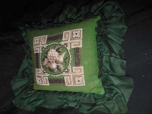 Victorian Bead Work Pillow