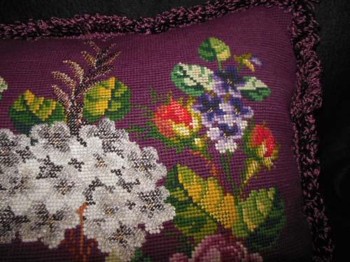 Bead Work Pillow