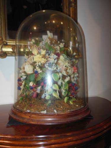 Dome of Wax Flowers.     SOLD
