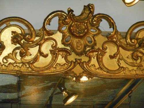 Mirror for Mantle. Gilt Rococo