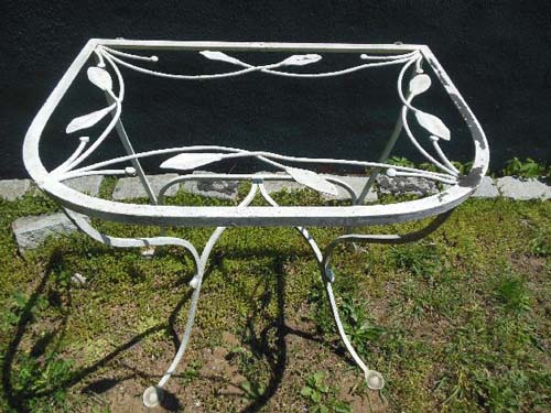 Table, Salterini vintage Wrought Iron console  SOL