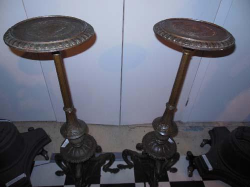 Pedestals: A pr of Cast Iron Pedestals