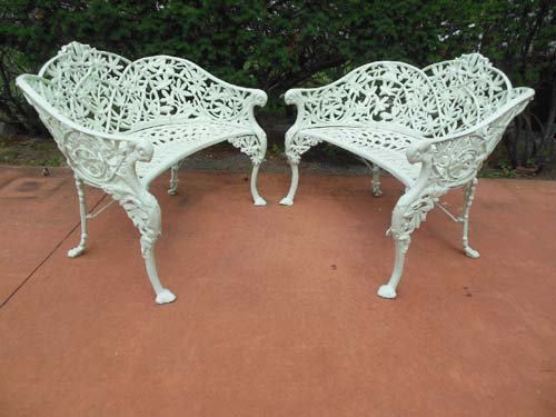 Garden Benches, Cast Iron Pr Passion Flower