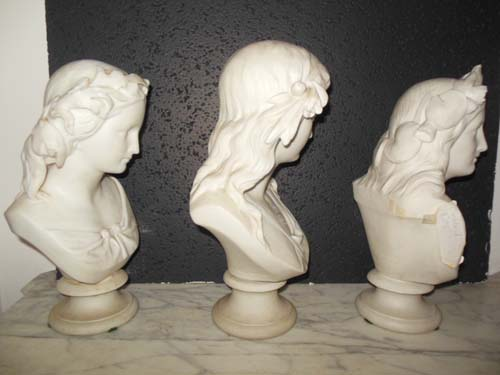 Parian Busts, Copeland England. SOLD